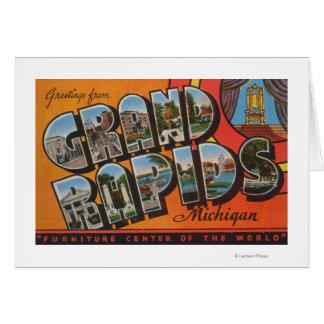 Grand Rapids, Michigan - Large Letter Scenes Card