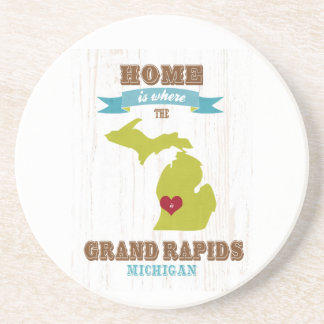 grand rapids, michigan Map – Home Is Where Drink Coaster