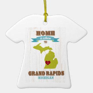 grand rapids, michigan Map – Home Is Where Ornament