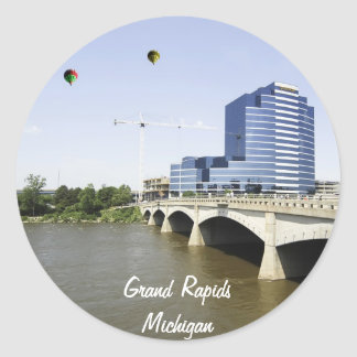 Grand Rapids Michigan Round Sticker