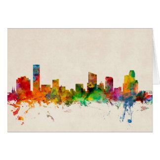 Grand Rapids Michigan Skyline Cityscape Card