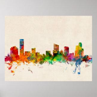 Grand Rapids Michigan Skyline Cityscape Print