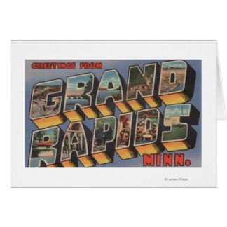 Grand Rapids, Minnesota - Large Letter Scenes Card