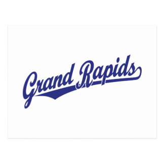 Grand Rapids script logo Post Card