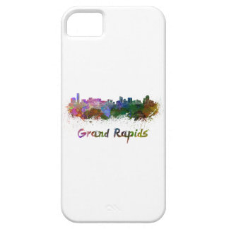 Grand Rapids skyline in watercolor Case For The iPhone 5
