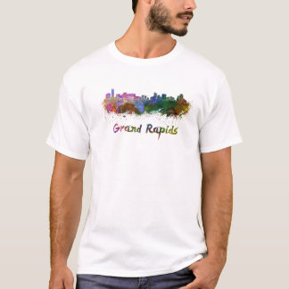 Grand Rapids skyline in watercolor T-Shirt