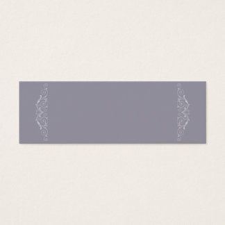 Grand Soiree | Lilac Gray Non Folded Placecard Mini Business Card