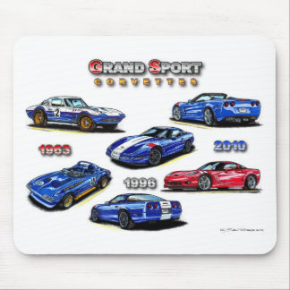 Grand Sport Corvettes 1963, 1996, 2010 Mouse Pad