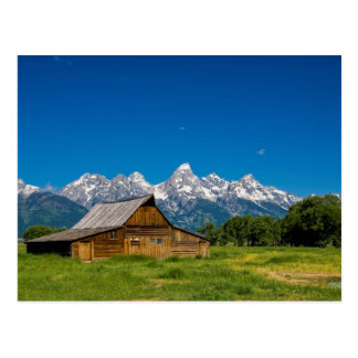 Grand Teton Barn Postcard