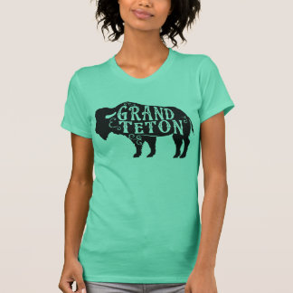 Grand Teton Buffalo Black T-Shirt