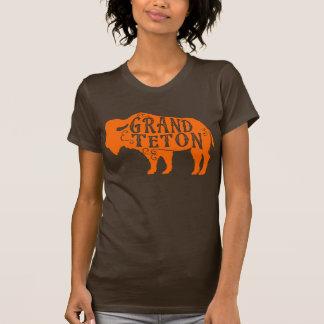 Grand Teton Buffalo Orange T-Shirt