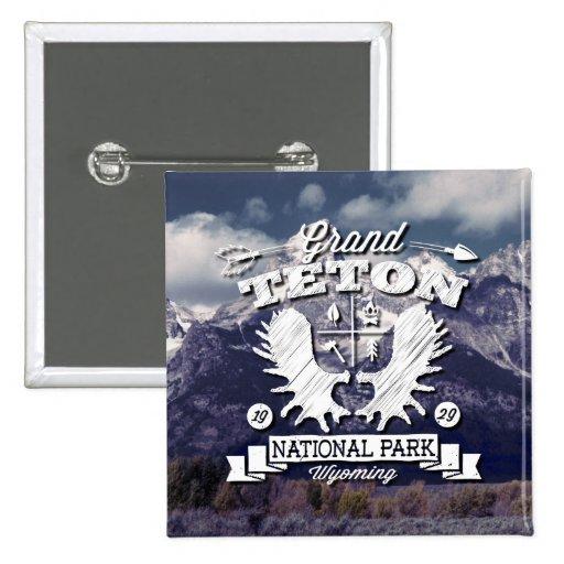 Grand Teton Camper Logo Buttons