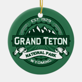 Grand Teton Forest Ceramic Ornament