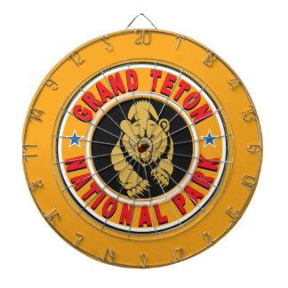 Grand Teton Gold Circle Dartboard With Darts