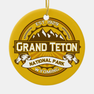 Grand Teton Goldenrod Ceramic Ornament