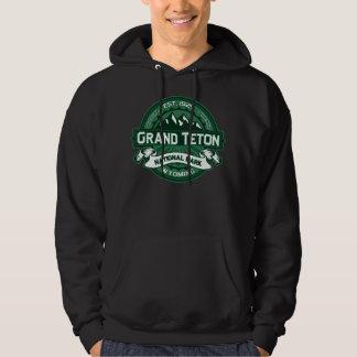 Grand Teton Green Logo Hoodie