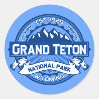 Grand Teton Logo Cobalt Round Sticker