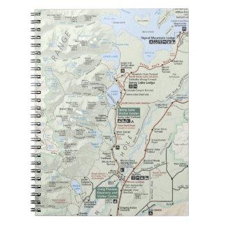 Grand Teton map notebook