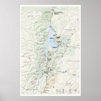 Grand Teton map poster