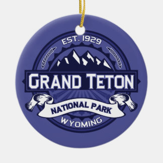 Grand Teton Midnight Ceramic Ornament