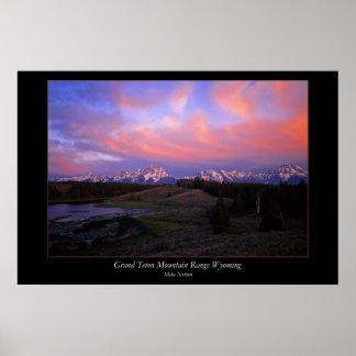 Grand Teton Mountain Range Wyoming Print