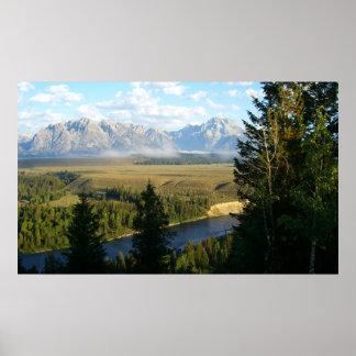 Grand Teton Mountains and River Print