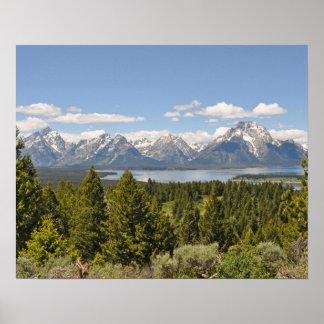 Grand Teton Mountains Scenic View Poster