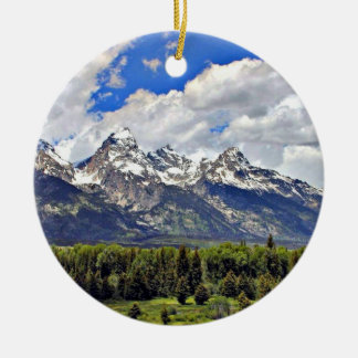 Grand Teton National Park Ceramic Ornament