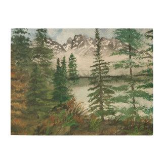 Grand Teton National Park Mountains Wood Wall Art