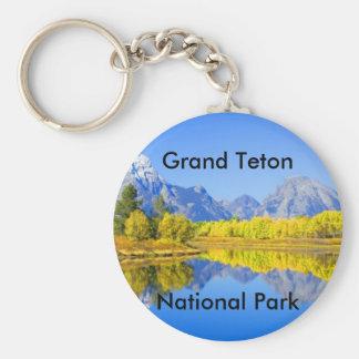 Grand Teton National Park Series 1 Basic Round Button Key Ring