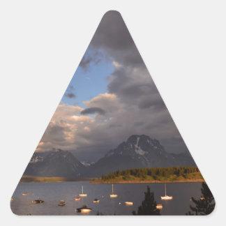 Grand Teton National Park Sunrise Triangle Sticker