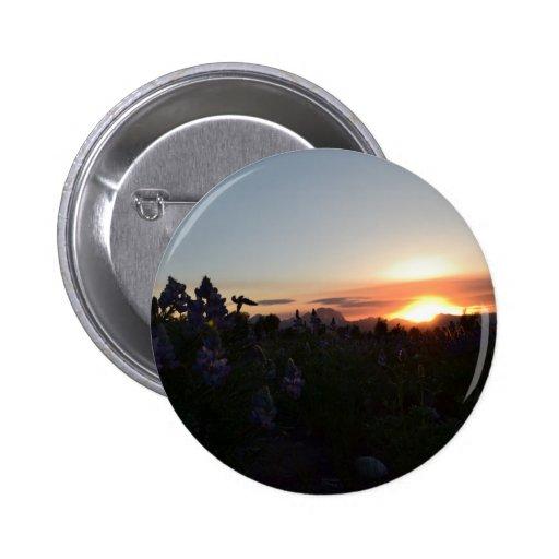 Grand Teton National Park Sunset Pinback Buttons