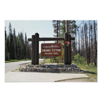 Grand Teton National Park, US National Park, Sign