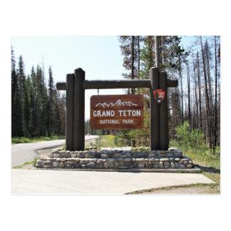 Grand Teton National Park, US National Park, Sign Postcard