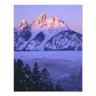 GRAND TETON NATIONAL PARK, WYOMING. USA. Fog & Photographic Print