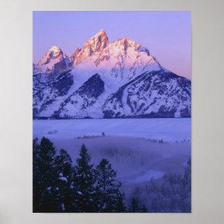 GRAND TETON NATIONAL PARK, WYOMING. USA. Fog & Posters