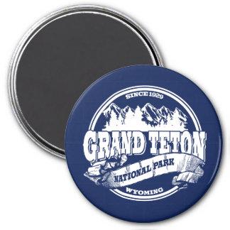 Grand Teton Old Circle Blue Magnet