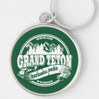 Grand Teton Old Circle Green Key Ring