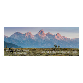 Grand Teton Panorama Poster