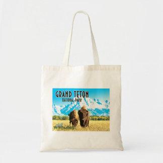 Grand Teton Park Wyoming Vintage Travel Tote Bag