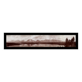 Grand Teton Range WY Photo 1902 Poster