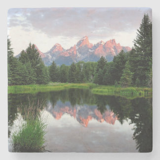 Grand Teton Reflections Over the Beaver Pond Stone Coaster