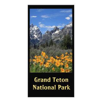 Grand Teton Springtime Souvenir Photo Personalised Photo Card