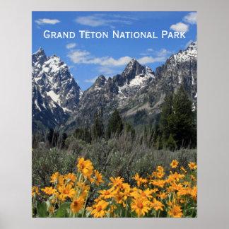 Grand Teton Springtime Souvenir Photo Poster
