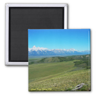 Grand Teton Valley, WY Square Magnet