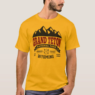 Grand Teton Vintage Maroon T-Shirt