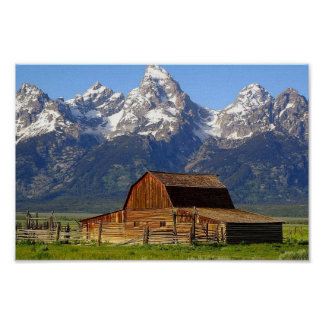 Grand Tetons Barn Poster