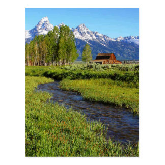 Grand Tetons Barn, Wyoming Postcard