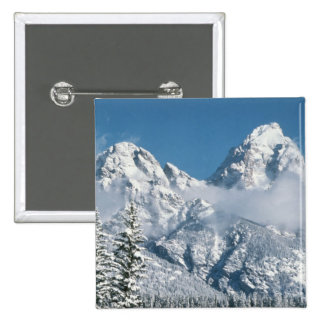 Grand Tetons in Winter Pinback Button