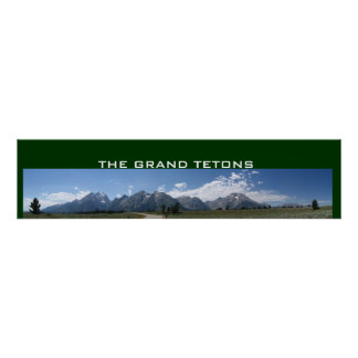 Grand Tetons panoramic poster